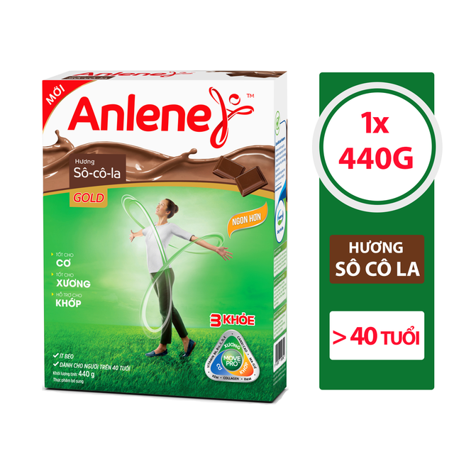 Sữa bột Anlene Gold Movepro Hộp 440g chocolate