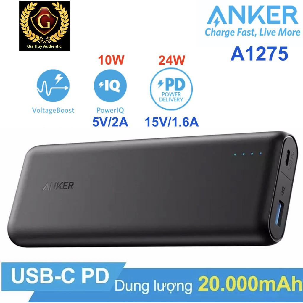 Pin sạc dự phòng ANKER PowerCore Speed 20000mAh PD 24W - A1275, Giá tháng  11/2020