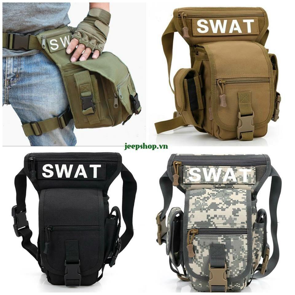 Túi Đeo Hông Swat Chiến Thuật - Túi Đeo Hông Đạp Xe Thể Thao - Vải Dù Độ Bền Cao, BH 3 Tháng Sử Dụng