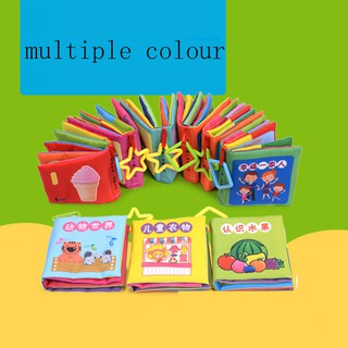 Baby Early Education Children Multicolor Cartoon Cloth Book Toy