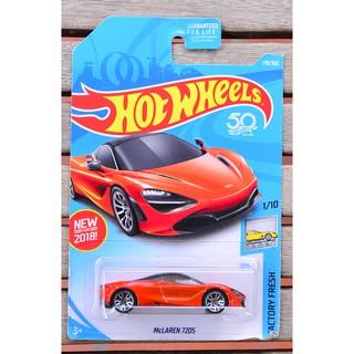Xe mô hình tỉ lệ 1:64 Hot Wheels Mclaren 720s 178/365 ( màu cam )