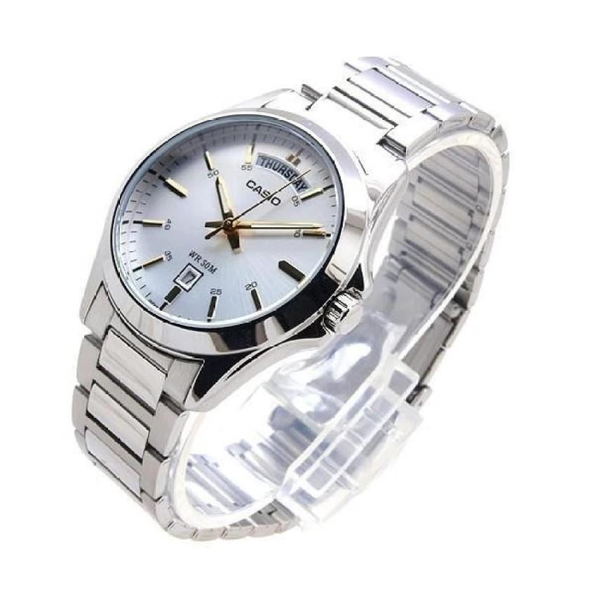 Đồng hồ nam dây kim loại Casio chính hãng Anh Khuê MTP-1370D-7A2VDF