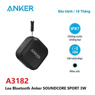 Loa Bluetooth Anker SoundCore Sport 3W A3182 - Hàng Chính Hãng - Đen