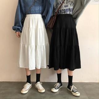 Chân váy midi 3 tầng, chân váy voan xòe hai lớp ulzzang – CV01A For Girls