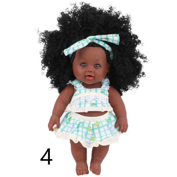 30cm búp bê màu đen bé silicone trẻ sơ sinh kid búp bê đồng hành