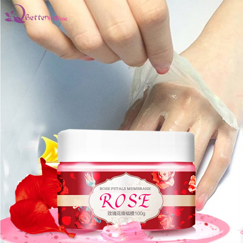BLT Rose Peel Off Hand Wax Gel Hydrating Exfoliating Whitening Hand Mask