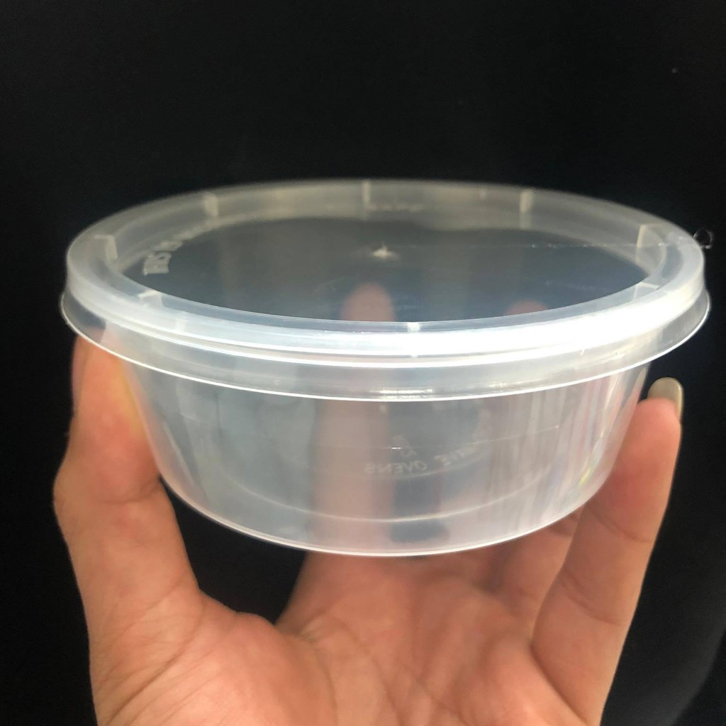 Hộp đựng slime 250 ml, hũ đựng slime size L