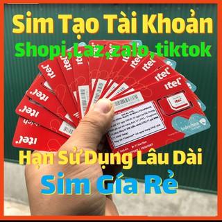Sim Itelecom – Sim Itel Rác Lập Shope,Gmail,Fb,Zalo,Tiktok,Laz,Be…. Hạn Sử Dụng Dài, Nuôi Tài Khoản Lâu Dài