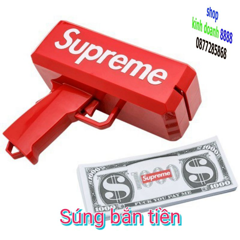 S24 – Súng Bắn Tiền Supreme Full Box Tặng Kèm 100 Tờ Tiền Dolar Supreme sale