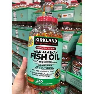 VIÊN UỐNG DẦU CÁ KIRKLAND SINGATURE WILD ALASKAN FISH OIL 1400MG