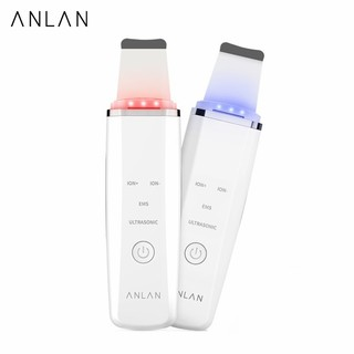 ANLAN Ultrasonic Skin Scrubber Cleansing Massage Machine With Red Blue Light Therapy thumbnail