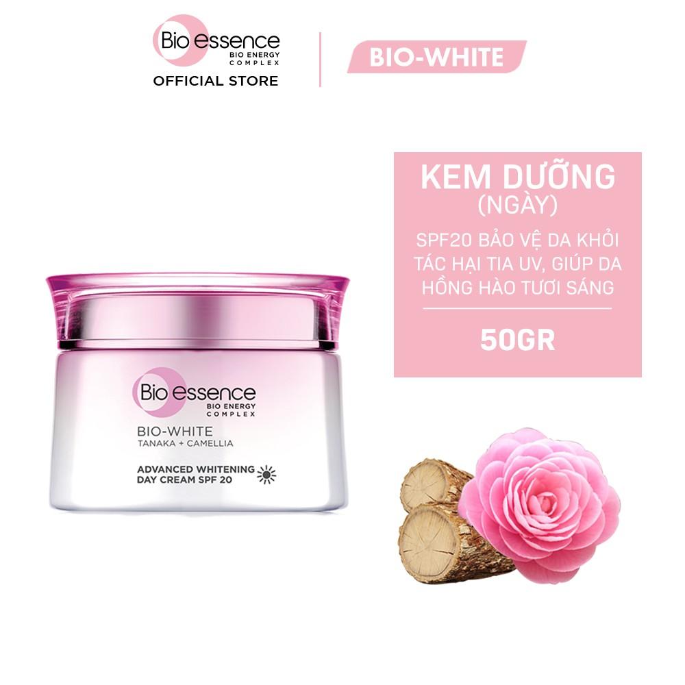 Kem dưỡng trắng chuyên sâu ban ngày Bio-Essence Bio-White Day Cream chiết xuất Tanaka&Camellia 50g