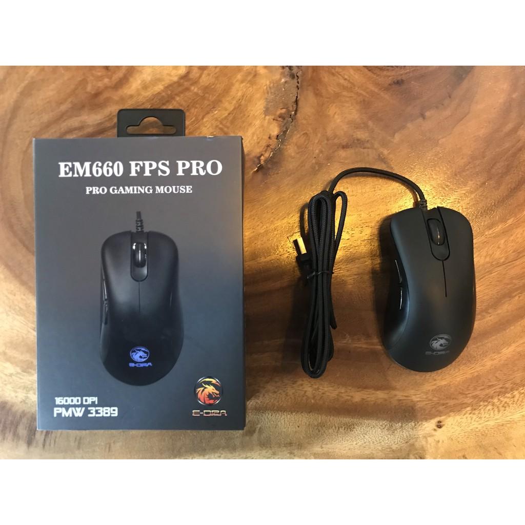 [Mã 267ELSALE hoàn 7% đơn 300K] Chuột Gaming E-DRA EM660 FPS PRO