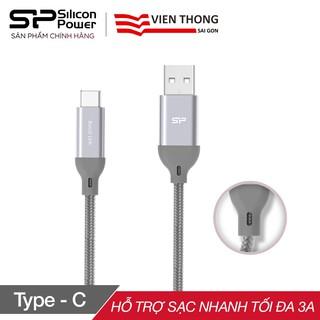 [Mã 2404EL10K giảm 10K đơn 20K] Cáp sạc nhanh Silicon Power Type-C Boost link LK30AC bọc nylon tối đa 3A dài 1m (Xám)