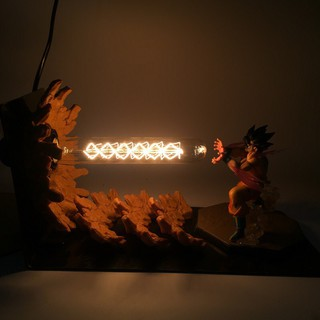 Dragon Ball Z Hành động Hình Son Gokou Triple Kaiouken DIY LED Light Anime Dragon Ball Super Goku Kamehameha Attack Mode