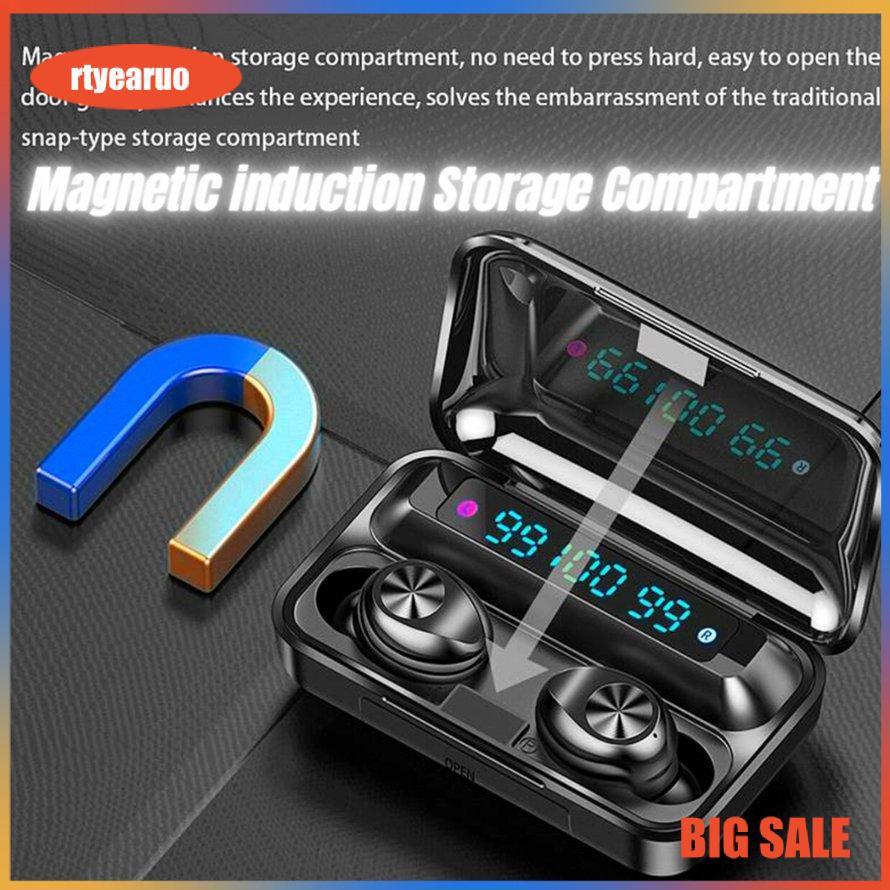 *Tai Nghe Bluetooth AMOI F9-10 PRO TWS Không Dây | nút cảm ứng | Hiển thị % pin, Dung Lượng 3500Mah