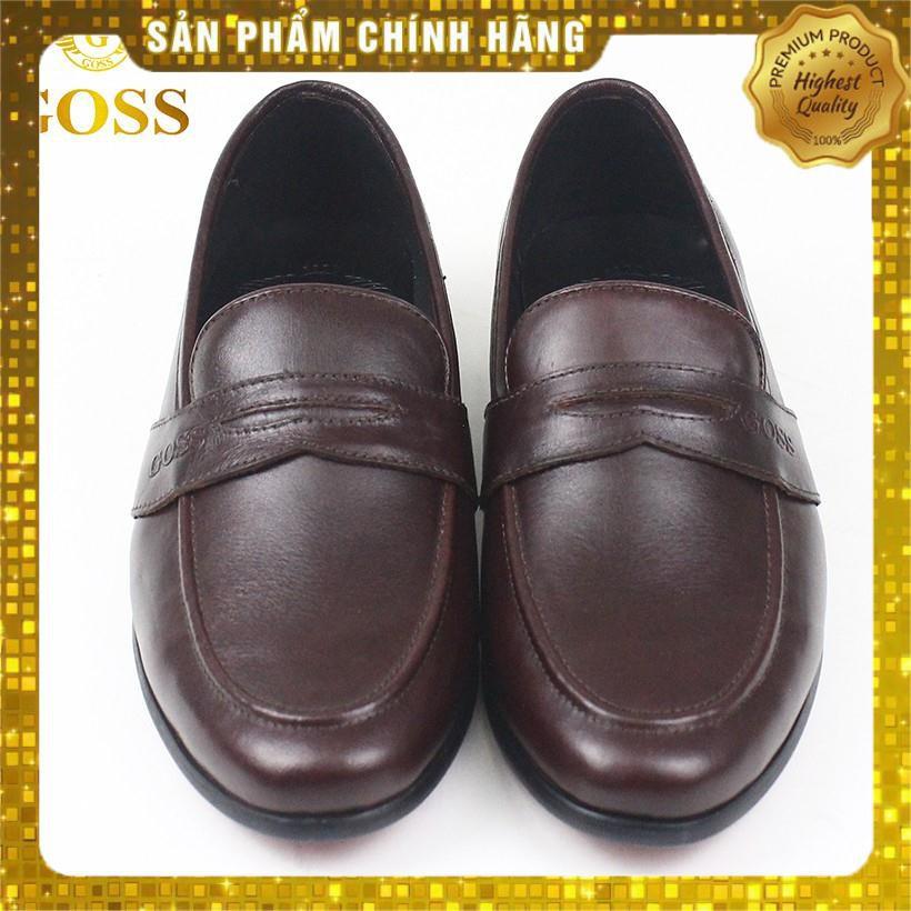 Giày da nam công sở da thật 100% Mẫu giày lười không dây đế thấp bán chạy nhất năm 2019 - HÀNG CAO CẤP- BẢO HÀNH 1