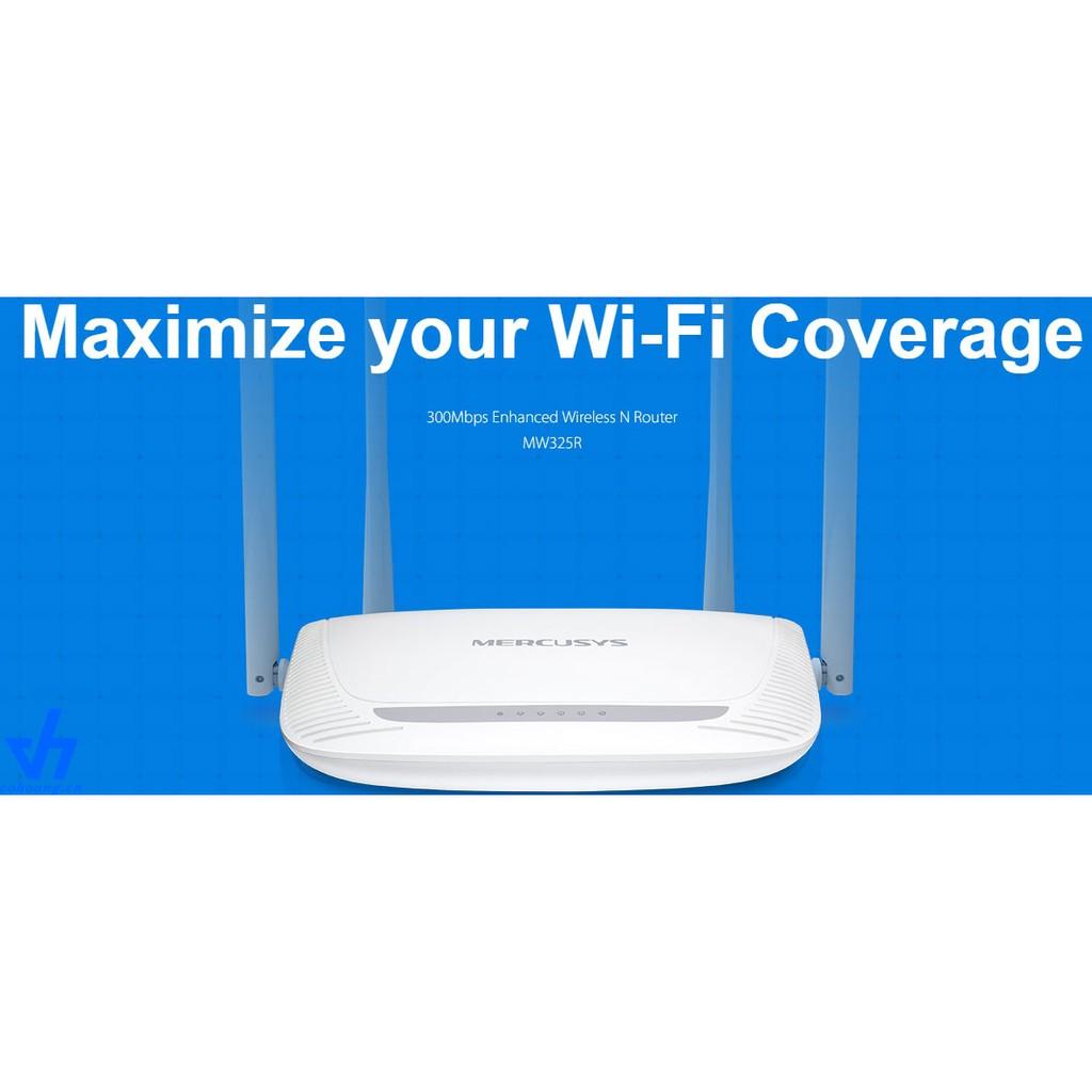 Bộ Phát Wifi Mercusys 4 Râu xuyên tường siêu khỏe (hàng chính hãng)