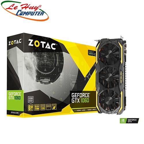 [Mã ELCL3MIL giảm 5% đơn 3TR] Card màn hình - VGA ZOTAC GeForce GTX 1060 6GB GDDR5X (ZT-P10620D-10P)