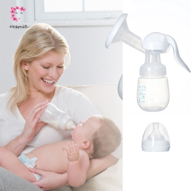 Manual Press Style Breast Pump with Milk Bottle Nipple Function