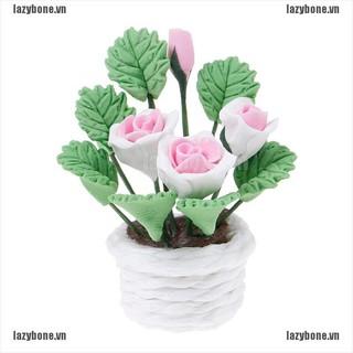 Mô Hình Chậu Hoa Giả Trang Trí Nhà Búp Bê Tỉ Lệ 1 12 thumbnail