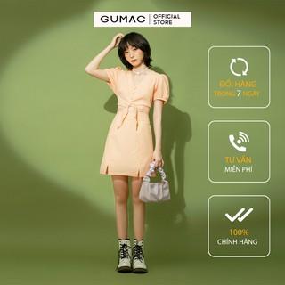 Chân Váy Nữ chữ A họa tiết caro xẻ lai GUMAC thiết kế basic VB1176
