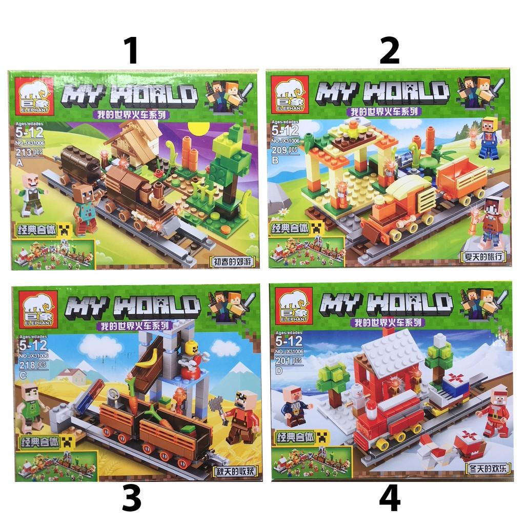 Bộ Lego xếp hình My World MineCraft 201- 218 pcs