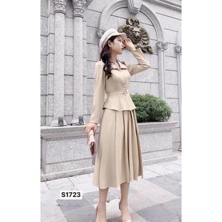 Set tay áo dài kèm chân váy xếp ly S1723_Hela Shop [Kèm ảnh thật] thumbnail