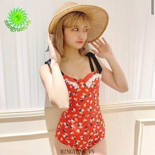[mingyuan] 2020 Conservative strap-on women s swimwear One-piece floral sexy swimwear Korean-style swimsuit thumbnail