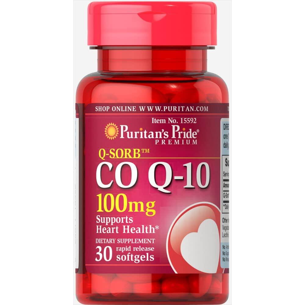 Viên uống chống lão hóa cho da, đẹp da, hỗ trợ tim mạch Q-Sorb Co Q-10 100mg Puritan's Pride 30 viên
