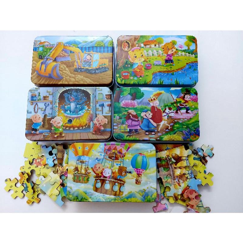 Tranh ghép hình 60 miếng – Đồ chơi ghép hình cho bé – Xả kho tranh xếp hình