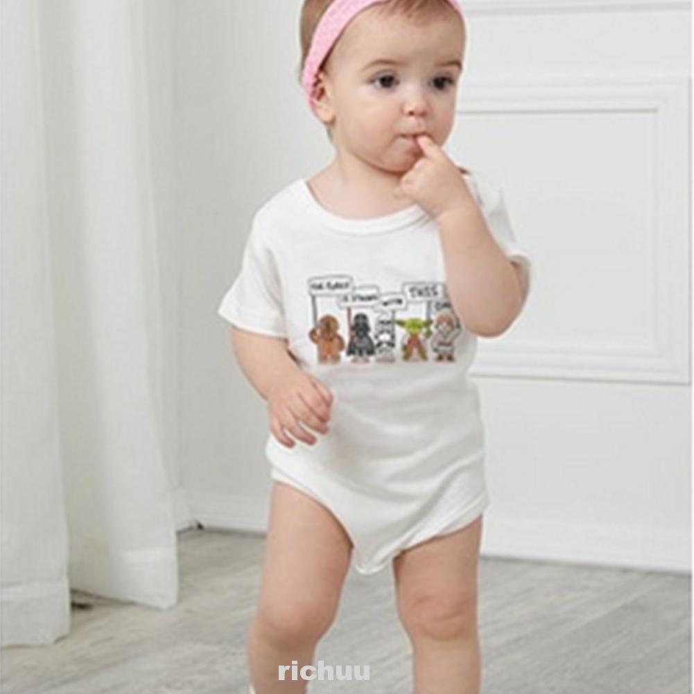 Áo liền quần Tay Ngắn Hoạ Tiết Hoạt Hình Cho Trẻ Sơ Sinh