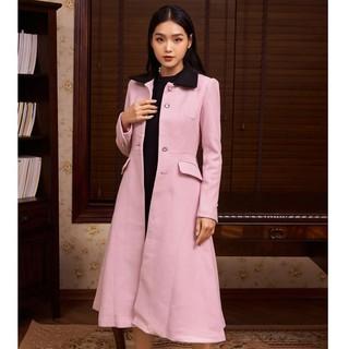 Áo măng tô hồng đai thiết kế Elise thumbnail