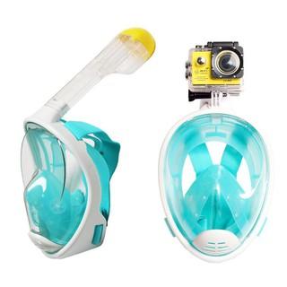 Mặt nạ lặn Full Face gắn được GOPRO, SJCAM tầm nhìn 180 độ ống thở gắn liền ngăn nước POPO Collection thumbnail