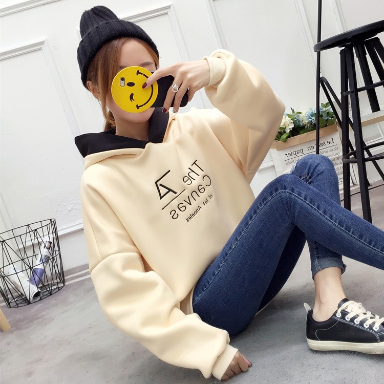 áo hoodie nữ kiểu dáng đơn giản thời trang phong cách hàn quốc - 14566866 , 2525057701 , 322_2525057701 , 288100 , ao-hoodie-nu-kieu-dang-don-gian-thoi-trang-phong-cach-han-quoc-322_2525057701 , shopee.vn , áo hoodie nữ kiểu dáng đơn giản thời trang phong cách hàn quốc