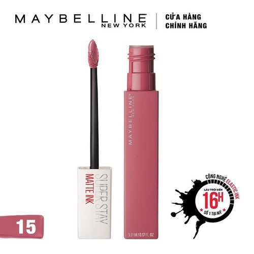 [HB Gift] Quà tặng Son kem chuẩn lì giữ màu 16h Maybelline Super Stay Matte Ink 5ml