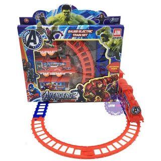 [Nhập TOYAPR10 giảm 10K]Bộ đồ chơi đoàn tầu Avengers chạy pin (877-66)