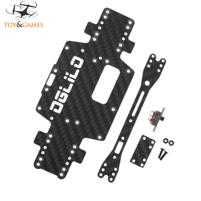 Wltoys K969 K979 K989 K999 P929 P939 1:28 RC Car Spare Parts Upgraded Carbon Fiber Chassis Car Low