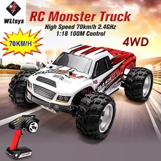 Xe điều khiển 70km.h 4WD 1:18 Tốc Độ Cao Quái Vật 2.4GHZ