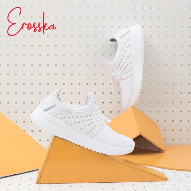 Giày Thể Thao Thời Trang Nữ Erosska Runner ZR013 ( Trắng)