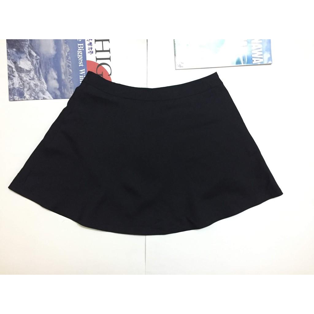 2012811432 - Chân váy chữ A màu đen