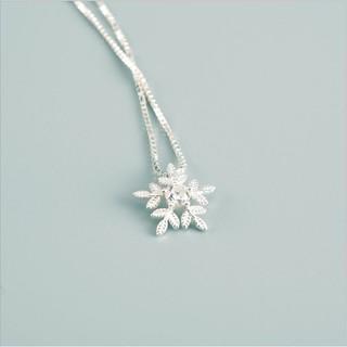Dây Chuyền Nữ Hình Bông Tuyết Trắng Bạc Ý 2925 M1569 - Bảo Ngọc Jewelry