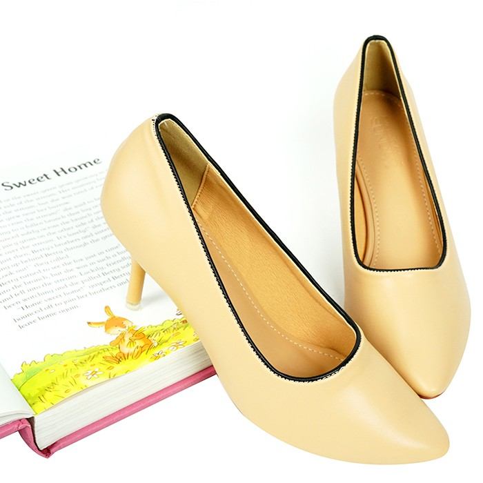 Giày cao gót 7cm SUNDAY CG34 Đen, Kem, Nâu, Xám