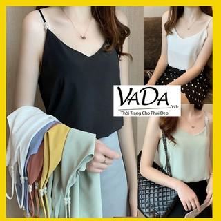 Áo lụa 2 dây siêu xinh phối hạt ngọc cao cấp, thiết kế áo tuy đơn giản nhưng sang trọng hàng chất đẹp tại VADA - A999 thumbnail