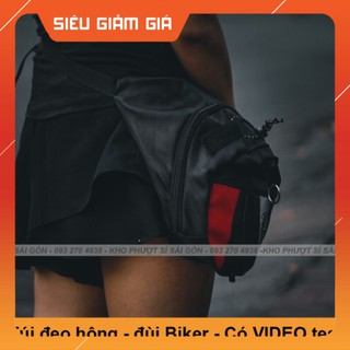 KHO SG- Phiên bản túi đeo chéo đùi dành cho Moto RAMBO form Dainese mới nhất - Túi đeo chéo đùi nâng cấp móc khóa thumbnail