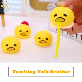Novelty Gag Toys Spitting Yolk Egg Prank Squeeze Stress Relief Soft Toy