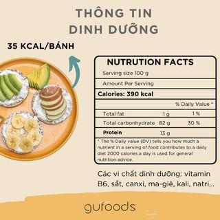 Hình ảnh Bánh gạo lứt ăn kiêng GUfoods (510g = 54 bánh) - Các vị Yến mạch, Huyết rồng, Tím than, Mix 3 vị, Hạt chia và Hạt quinoa-2