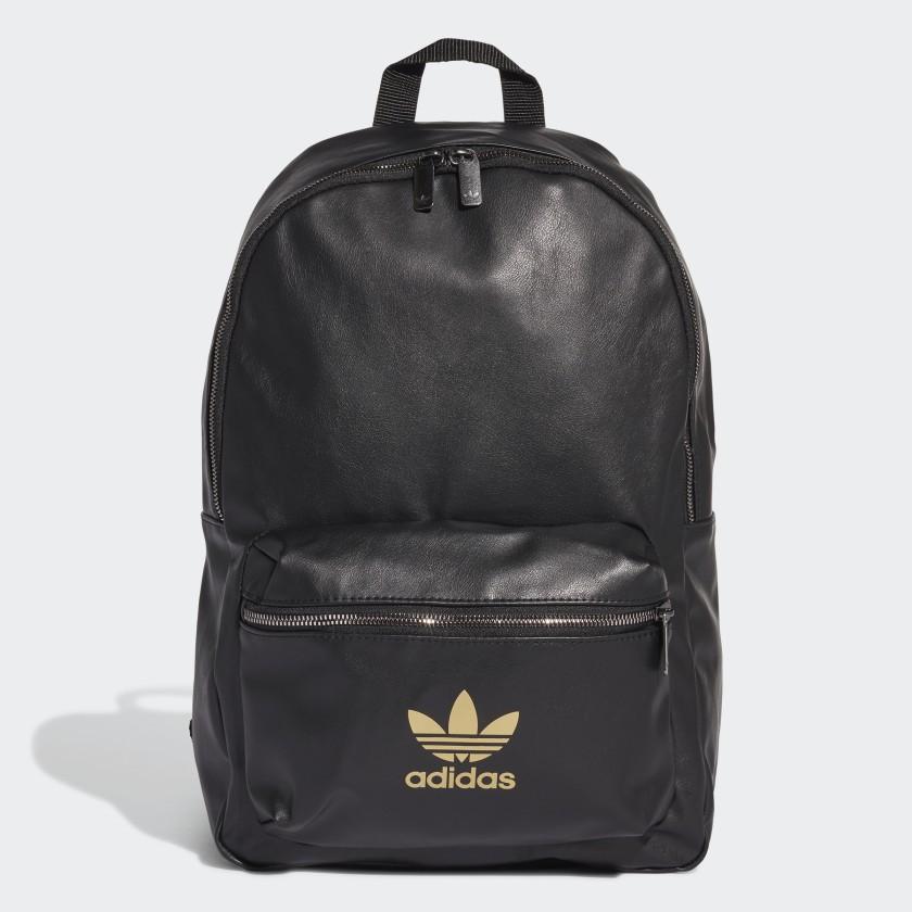 Balo Da Adidas Chính Hãng 🔴FREESHIP🔴 Adidas Originals Leather Black Gold Backpack - Ba Lô Adidas Chuẩn Auth - [FL9627]