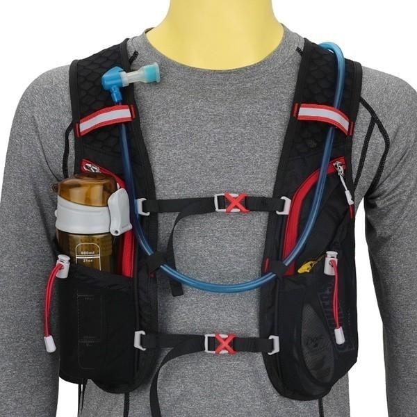 Đai chạy bộ dung tích 5L có ngăn đeo 2 bình nước và vật dụng thể thao