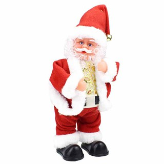 Christmas gift santa claus twisted hip twerking electric musical toy Xmas decor